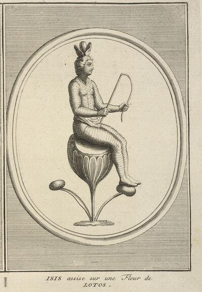 Bernard Picart, 'Isis Seated on a Lotus Flower', 1723-1743