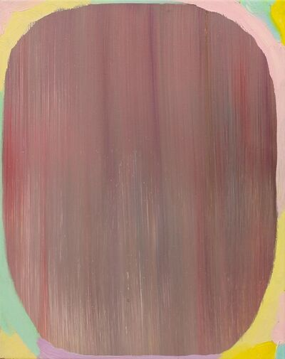 Merike Estna, 'A painting with a colorful frame', 2012