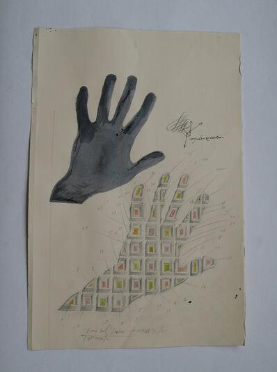 "Paul Neagu, '""Human hand shadow""', 1973"