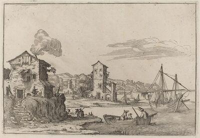 Ercole Bazicaluva, 'Rustic Seaport', 1638