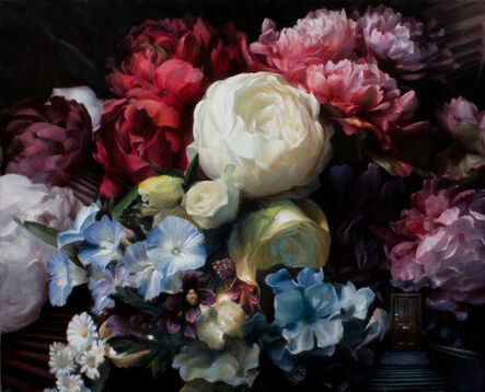 Kate Sammons, 'Stairs and Flowers', 2015