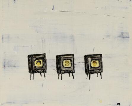 Marcel Dzama, 'Untitled (Three Talking Heads)', ca. 1998