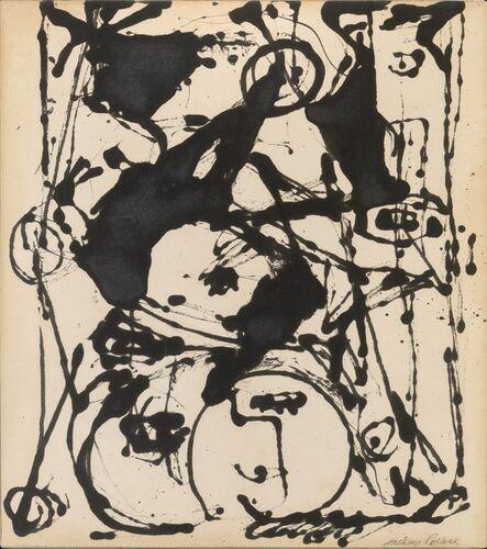 Jackson Pollock, 'Black and White Painting II', c. 1951