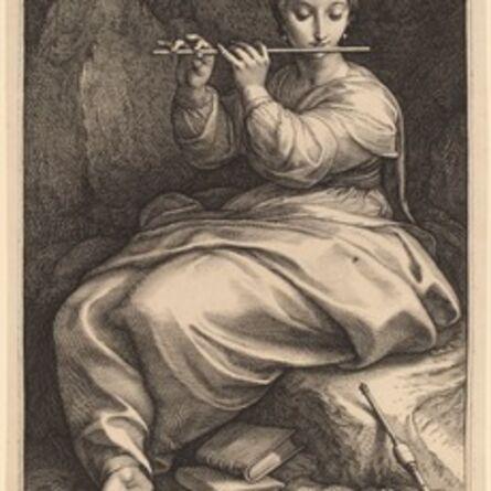Hendrik Goltzius, 'Euterpe', probably 1592