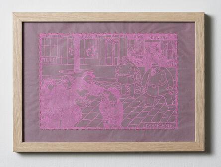 Matt Damhave, 'L'Anarchiste-Pink (After Vallotton)', 2018