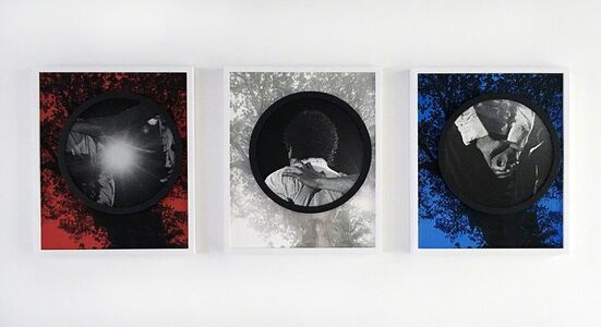 Todd Gray (b.1954), 'Welcome to Planet Earth (red, white and blue) (triptych) 欢迎来地球(红、白、蓝)', 2015