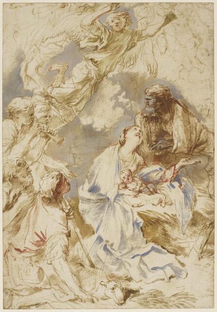 Salvatore Castiglione, 'The Adoration of the Shepherds', ca. 1650-60
