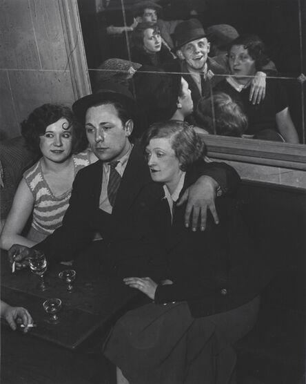 Brassaï, 'Groupe Joyeux au bal musette des Quatre Saisons, rue de Lappe, Paris, France', ca. 1932