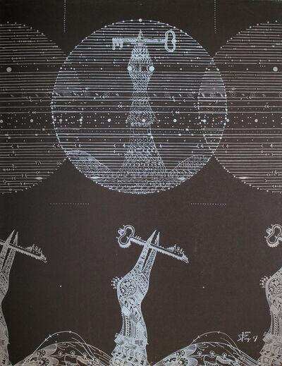 Joan Ponç, 'Vögel und Schlüssel / Birds and Key', 1967