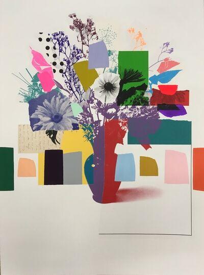 Emily Filler, 'Paper Bouquet (blue & green hyndrangea)', 2021
