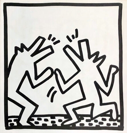 Keith Haring, 'Keith Haring (untitled) Crocodile lithograph 1982', 1982