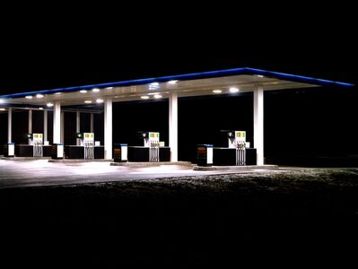 Ralf Peters, 'Petrol Stations (blue, white)', 1998