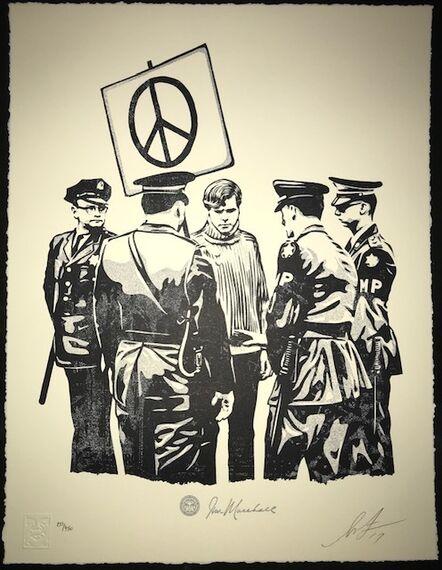 Shepard Fairey, 'Peaceful Protester ', 2017