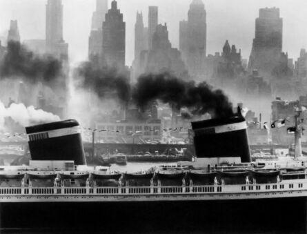 "Andreas Feininger, 'The ""United States"" Setting Sail, New York', 1952"