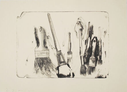 Jim Dine, 'Brushes Drawn on Stone #2', 2010