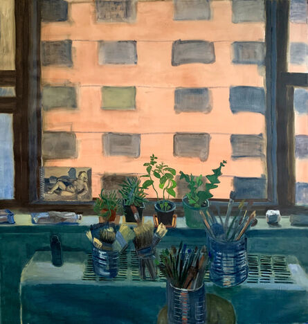 Charity Baker, 'View From my Window (with plants, rocks, paint, brushes, and sketchbook)', 2021