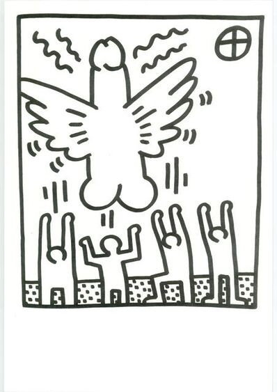 Keith Haring, 'Lithograph from Lucio Amelio's Artist Haring Book (1983) ', 1983