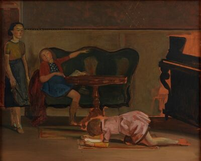 "Balthus, 'Study for ""The Salon""', 1941"