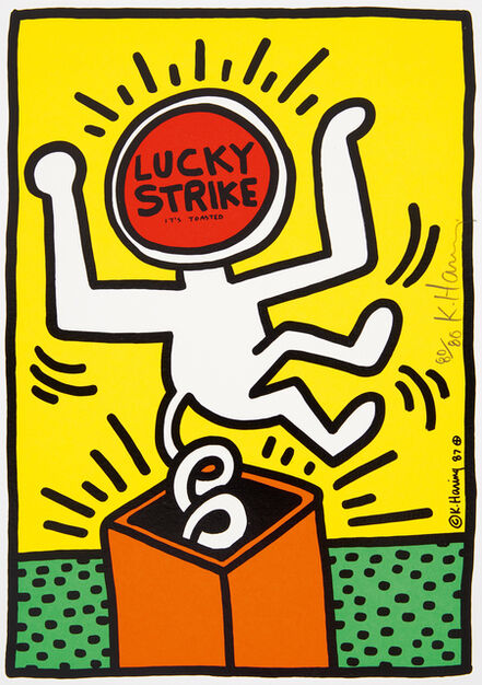 Keith Haring, 'Lucky Strike  (3)', 1987