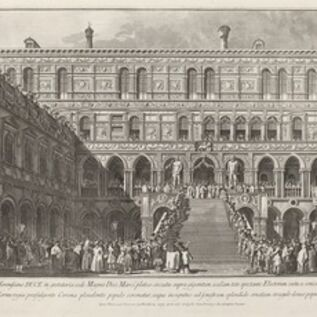 Giovanni Battista Brustolon after Canaletto, 'The Doge Crowned on the Scala dei Giganti of the Ducal Palace', 1763/1766