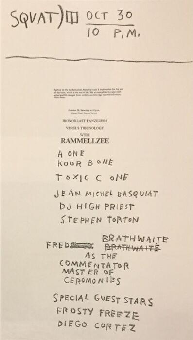 Jean-Michel Basquiat, 'Basquiat Rammellzee 'Ikonoklast Panzerism versus Tricnology' poster', 1982