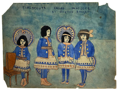 Henry Darger, 'Girl Scouts called Mascots 49 Degree Rangers', n.d.