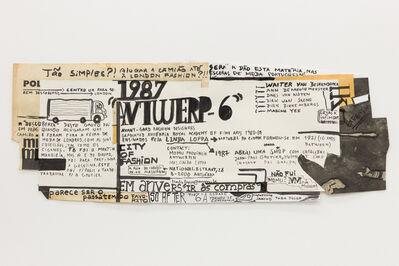 "Carla Filipe, '""Comer papel mastigado - o desejo de compreender o velho continente para cuspir a sua história / Eating chewed paper - the desire to understand the old continent to spit its story"" Untitled 17', 2014"
