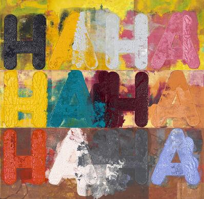 Mel Bochner, 'HA, HA, HA', 2018