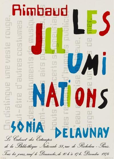 Sonia Delaunay, 'A poster for Rimbaud Les Illuminations', 1974