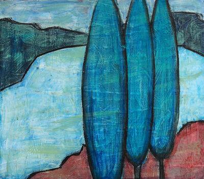 Erekle Chinchilakashvili, 'On the Shore with Blue Trees…', 2019