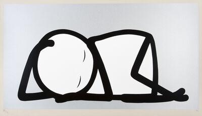 Stik, 'Sleeping Baby (Silver)'
