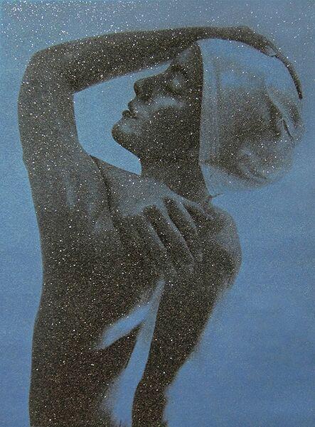 Carole A. Feuerman, 'Shower Profile (Blue)', 2012