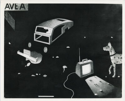 Anton van Dalen, 'Abandoned Car with Dog and TV', 1977