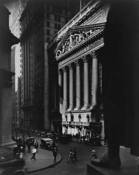 Berenice Abbott, 'New York Stock Exchange [Wall Street]', 1934-1936/printed later