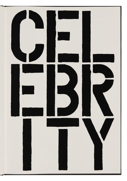 Christopher Wool, 'Celebrity (page from Black Book) ', 1989