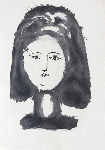 Pablo Picasso, 'Face of a woman framed with abundant hair', 1948