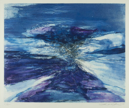 Zao Wou-Ki 趙無極, 'Untitled (Gravure 189) after the 1966 painting, Peinture.', 1968