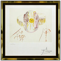 Salvador Dalí, 'Salvador Dali Ones Identity Color Etching Hand Signed Clock Watch Surreal Art', 1979