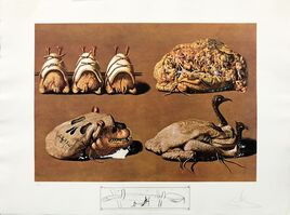 Salvador Dalí, 'LES CAPRICES PINCES PRINCIERS', 1971