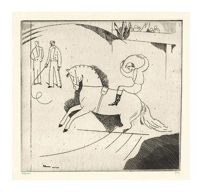 Jean-Emile Laboureur, 'Le Jockey d'Epsom (Deuxieme Planche)', 1913