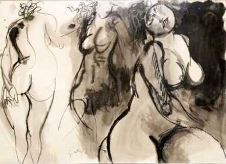 Renato Guttuso, 'Fantasia di danzatrici d.s', 1970-1975