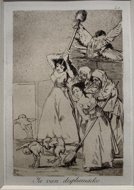 """Francisco de Goya, '""""Ya van desplumados""""', 1799-1803"""