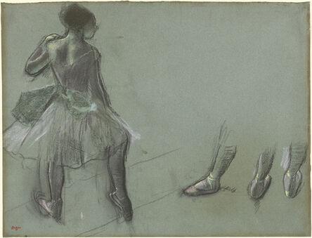 Edgar Degas, 'Dancer Seen from Behind and Three Studies of Feet', ca. 1878