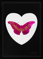 Damien Hirst, ''I Love You' Butterfly, Fuchsia/Black ', 2015