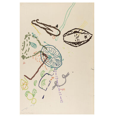 """John Cage, '""""30 Drawings by Thoreau"""", Silkscreen in Colors, Signed/Dated and Annotated A.P. 24/30', 1974"""