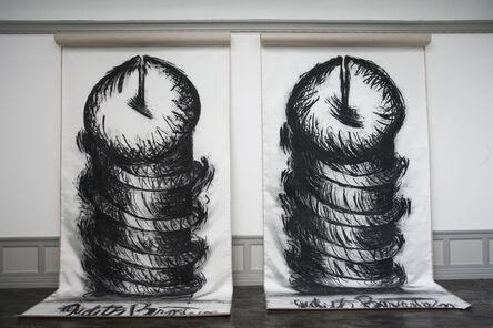 Judith Bernstein, 'Vertical Screws', 2014