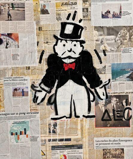 Alec Monopoly, 'Newspaper Monopoly Man 2', 2012