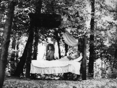 Arthur Elgort, 'Christy Turlington and Mikahil Baryshnikov, Swan Prince, French VOGUE', 1986