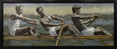 Mark Beard, '[Bruce Sargeant (1898-1938)] Three Rowers, Gliding Across the Water', n.d.