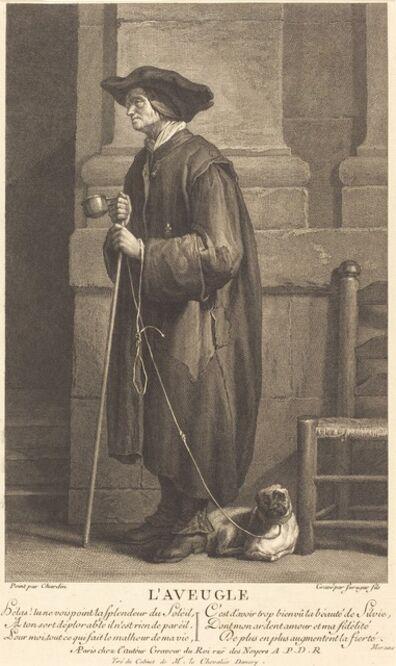 Pierre Louis de Surugue after Jean Siméon Chardin, 'The Blind Beggar'
